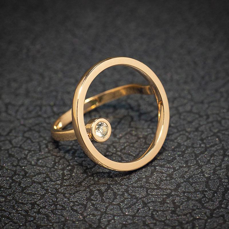 Кольцо-Круг-с-бриллиантом-(1)