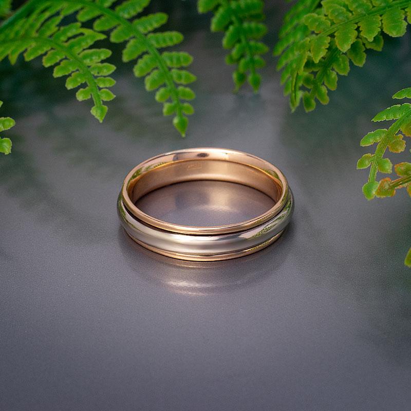 Кольцо-обручальное-комбинированное