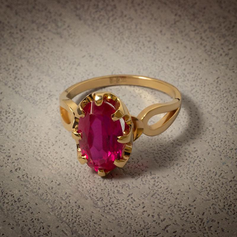 Кольцо-с-синтетическим-рубином