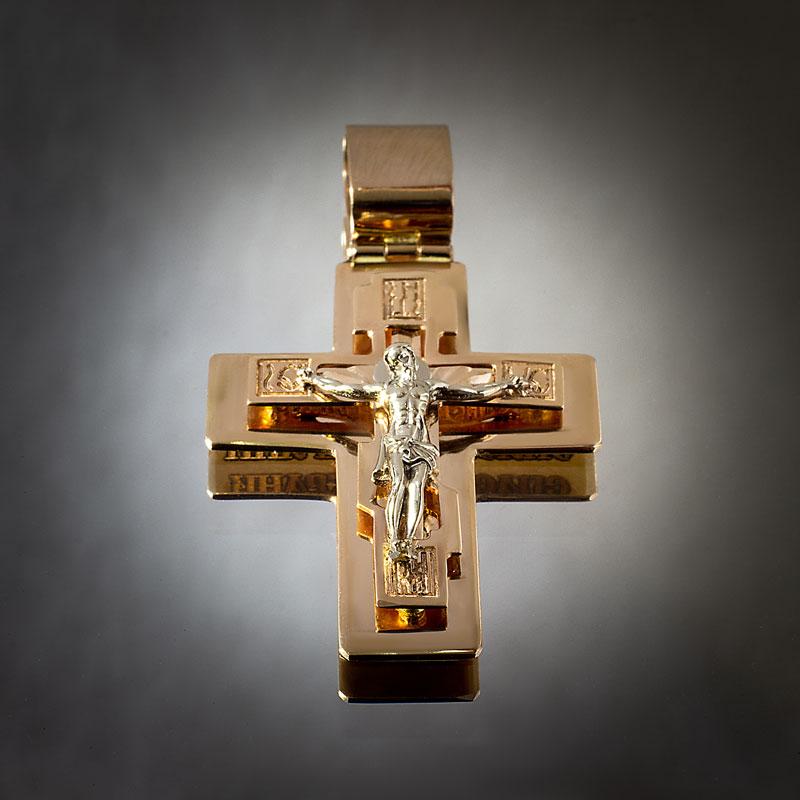 Крест-из-белого-и-красного-золота