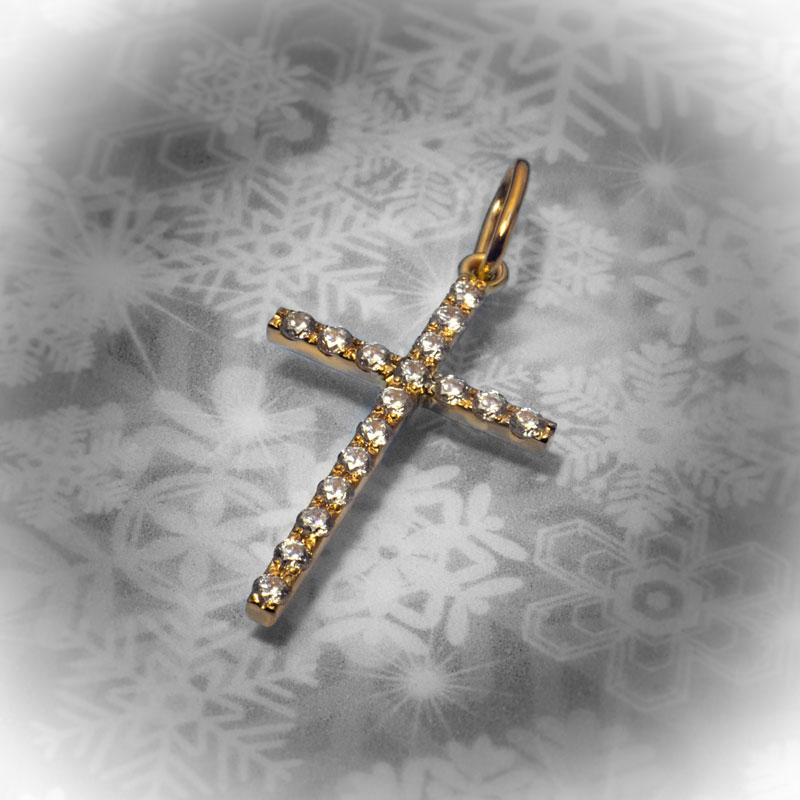 Крест-с-фианитами