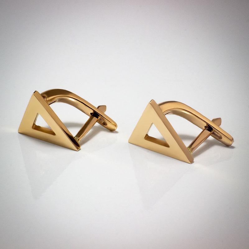 Серьги-треугольники-глянец